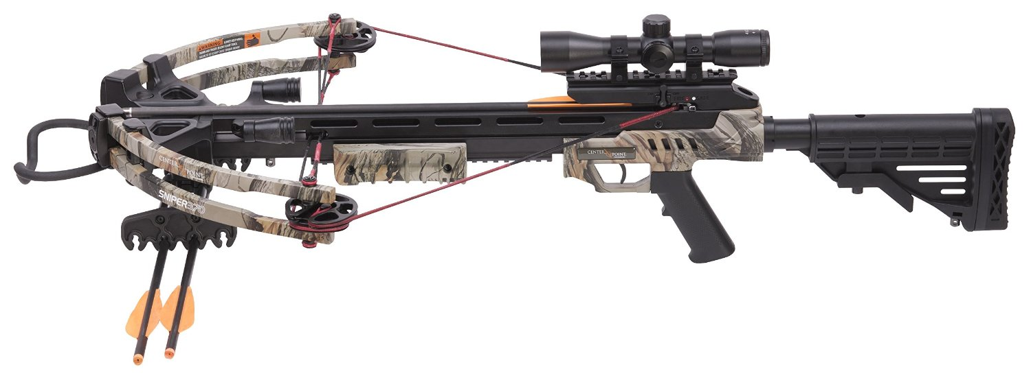 Best Crossbow: CenterPoint Sniper 370 - Camo Crossbow